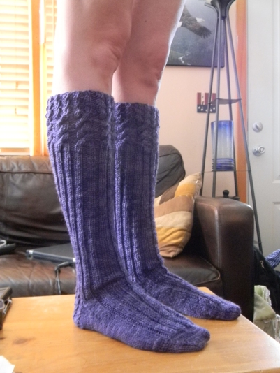 Purple Twin Peaks Socks