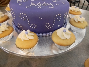 Scrolled Purple Cake