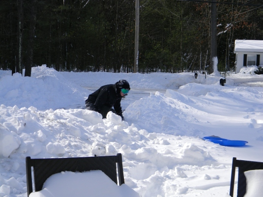 Aidan conquering Mount Snow